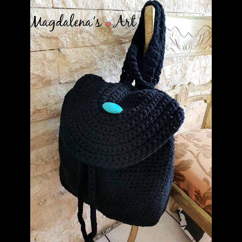 Τσάντες  Χειροποίητη πλεκτή τσάντα backpack 60965436531