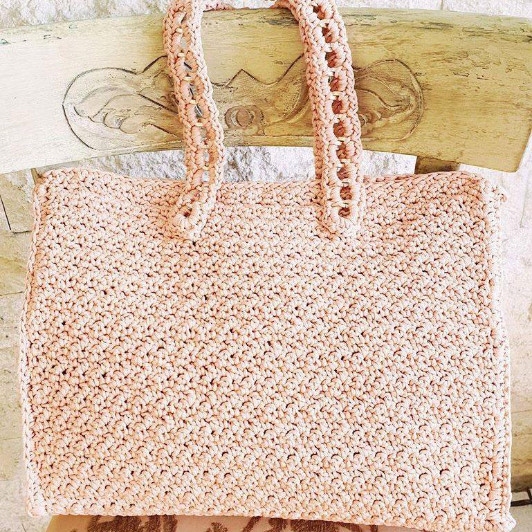 8b4f7b5aa4 Τσάντες  Χειροποίητη πλεκτή τσάντα με φερμουάρ