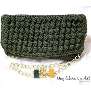 6fe7e564117 Χειροποίητη πλεκτή τσάντα Λαδί πράσινη